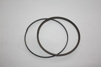 Carbon fiber filled PTFE baffle ring with low coefficient of friction